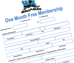 Preview of 1 Month Free Membarship Form