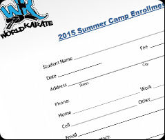 Preview of Summer Camp Enrollment Form