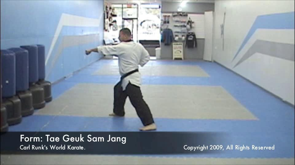 thumbnail of Taegeuk Sam Jang demonstration video